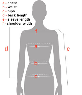 Female torso Size Chart Guide
