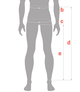 Chest waist measure guide