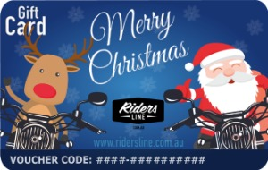 Merry Christmas - Moto Santa And Reindeer