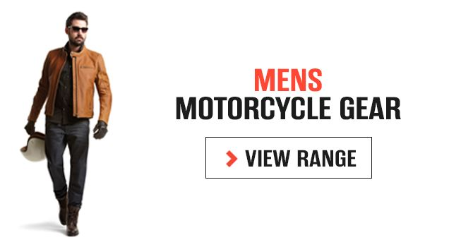 Mens Motorcycle Gear - Mens protective motorcycle jeans, jackets, gloves and boots